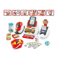 Quality Pretend Children's Play Toys Cash Register With Scanner And Credit Card Machine for sale