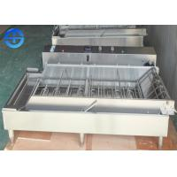 Wholesale Automatic Continuous Fryer Machine , Four Row Stainless Steel Donut Fryer Machine from china suppliers