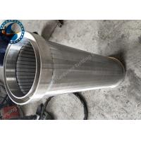 Buy cheap Energy Saving Profile Wire Coutinuous Slot Screen For Wastewater Filter from wholesalers