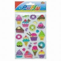 Wholesale Children's Puffy Stickers, Comes in Cute and Colorful Designs from china suppliers
