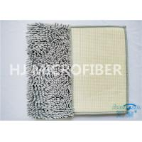 Wholesale Grey Color Big Chenille Microfiber Bathroom Mat For Home Using Flat Floor Mat from china suppliers