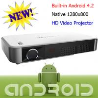 Quality Real 720P Android Wifi Wireless Projector For Cinema Office Using 2D To 3D Proyector for sale