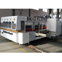 full automatic flexo printer slotter die cutter carton box machine