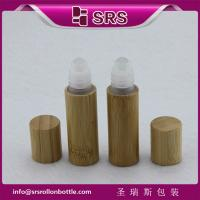 Wholesale SRS 5ml bamboo roller ball bottle, bamboo roll on bottle with plastic ball from china suppliers