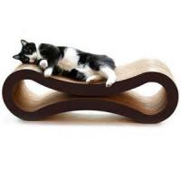 Wholesale Glossy Film Lamination Cardboard Cat Scratcher / Beds With Custom Logo Printed from china suppliers