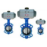 Wholesale Flange / Wafer Type Butterfly Valve Actuator Pneumatic Operated DN40 ~ DN600 from china suppliers