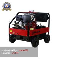 China Ak20/15GH Petrol driven outdoor cold & hot water high pressure washer on sale