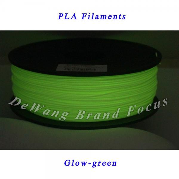 Quality Glow-green Dual Laser Diameter 1.75mm 3D Printer Filament For 3d Printer Pen for sale
