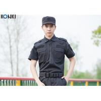 Wholesale Cool Security Guard Uniform , Black Short Sleeve Security Uniform Shirts from china suppliers
