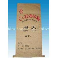China Shrinkproof Flat Bottom Paper Bags , Ceramic Tile Adhesive 3 Ply Paper Sacks on sale