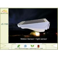 China Silver 15-20LM 3W LED Solar Pillar Lights Solar Powered Motion Sensor Light on sale