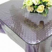 Plastic Table Cloth Made Of Eva With 3d Effect Water