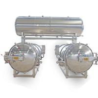 Buy cheap 2 Autoclaves Parallel with Water Tank for Packaged Food & Canned Food from wholesalers