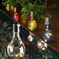 Wholesale Home Garden Solar Light Bulb Waterproof Solar Rotatable Outdoor Garden Camping Hanging LED Light Lamp Bulb Lights from china suppliers
