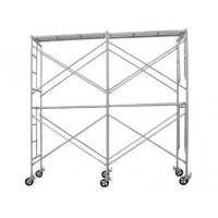 Wholesale OEM Galvanized Q345 Steel Scaffolding , Professional Wheeled Red Scaffold Tower from china suppliers