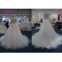 Wholesale Boat Neckline Pearls Muslim A Line Ball Gown Wedding Dress For Girls Lace Appliques from china suppliers