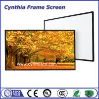 Wholesale Cynthia Cheapest Front And Rear Fabric Projection Screens Frame Aluminium Fixed Screen from china suppliers