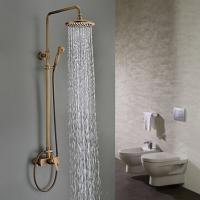 Wholesale Traditional Antique Brass 8 inch Shower Head + Hand Shower Tub Shower Faucet - SA008 from china suppliers