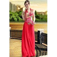 Wholesale DORISQUEEN(ready to wear)China red high collar wedding dress with applique from china suppliers