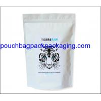 Wholesale White printing stand up pouch, doypack with zip lock, stand up mylar bag for packaging from china suppliers