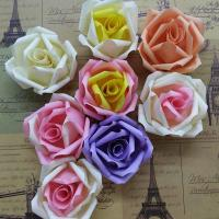 Wholesale DIY Wedding Small Fabric Craft Flowers 8 Colors Decorative Flat On Back from china suppliers