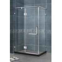 China 90 Degree Magnetic Seals Shower Screens Tempered Glass SS Support Bar and Hinge Swing Door on sale