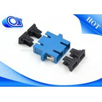 Wholesale SC UPC Single mode duplex fiber optics adapter for FTTH communication from china suppliers