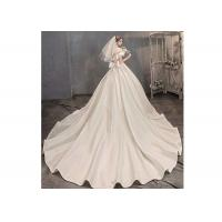 Wholesale Women Gorgeous Custom Satin Bridal Gown / Beaded Mermaid Wedding Gown from china suppliers