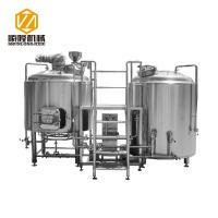 2 Vessels 304 Micro Beer Brewing Equipment Electricity / Steam Heating