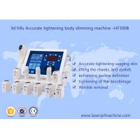 Quality 3d Hifu Ultrasound Machine / Accurate Tightening Body Slimming Facial Lifting Beauty Machine for sale