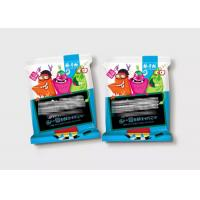 China 3 Side Seal Laminated Flexible Plastic Zipper Bags For Snack Food Colorful Printing on sale