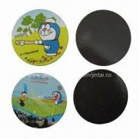 Wholesale Refrigerator magnets, made of paper or rubber in round shape, OEM orders are welcome from china suppliers