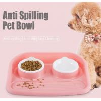 Wholesale Non Slip Plastic Feeding Dishes No Spill Pet Dog Cat Double Food Water Bowl For Cat Dog, Premium Colorful Dog Water Food from china suppliers
