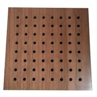 Wholesale Fireproof Material Sound Absorbing Music Room Wooden Perforated Acoustic Wall Panel from china suppliers