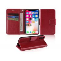 Wholesale Wine Red 5.85 Inches Apple iphone Leather Case With Credit Card Pockets from china suppliers