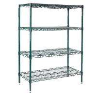 Wholesale Adjustable Commercial Shelving Green Epoxy Coated 4 Shelves Waterproof Surface from china suppliers