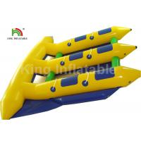 6 Person Seat Inflatable Flying Fish Tube Banana Boat For Summer Sport Water Game for sale