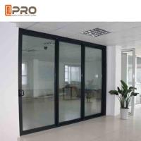 Wholesale Powder Coated Bullet Proof Aluminium Sliding Glass Doors Customized Size from china suppliers