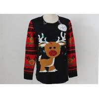 Wholesale OEM Unisex Embroidery Knitting Ladies Ugly Christmas Sweater With LED Lights from china suppliers