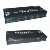 China HDMI Splitters with Aluminum Casing, Support HDCP-compliant Devices and DVI Specification 1.0 on sale