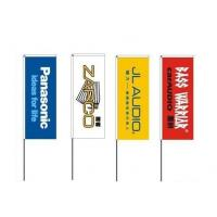 China PET Polyester Outdoor Advertising Flags 60cm x 160cm High Resolution on sale