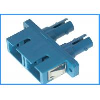 Wholesale Single ModeSC To SC Fiber Optic Adapters ,  Blue Housing Fiber Optic Coupler from china suppliers