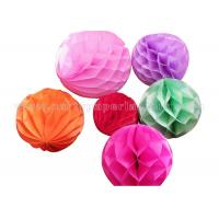 Wholesale Plain Color Round Honeycomb Decorations Paper Balls For Party , Home Decoration from china suppliers