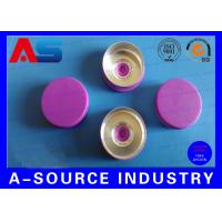 Wholesale Light Purple Color 20 mm Flip Off Cap with Aluminum Plastic Material ISO 9001 from china suppliers