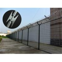Wholesale Prison Anti Climb Fencing / Security Steel Fence With Razor Barbed Wire from china suppliers