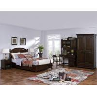 Wholesale American Leisure Antique Design Single bedroom furniture Small bed with writing Desk and Bookcase and 2 door wardrobe from china suppliers