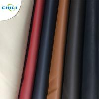 Wholesale Solid Color PU Leather Fabric Waterproof Woven Backing Design Smooth from china suppliers