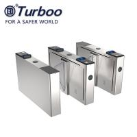 Wholesale Half Height Flap Barrier Turnstile 100-240V Security IC ID QR RFID Card Reader from china suppliers