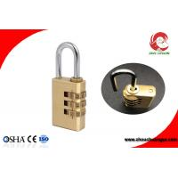 Buy cheap High Quality Brass 3 Digital Number Wheel Combination Padlock from wholesalers