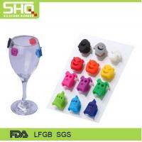 Wholesale factory directly New Colorful wine bottle silicone glass labels from china suppliers